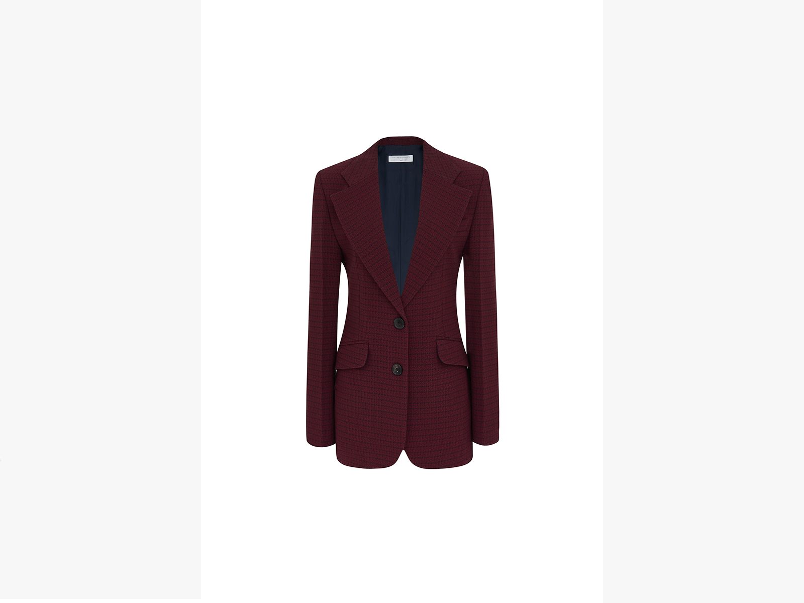 Victoria Beckham Jarvis Tailored Jacket in Bordeaux