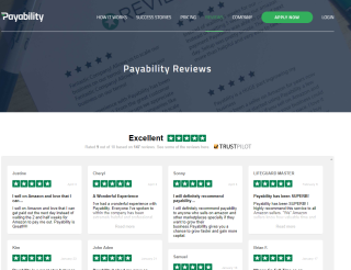 Payability's Reviews Page