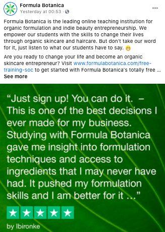 TP Formula Botanica image generator example