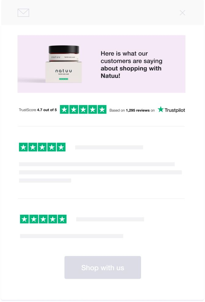 Klaviyo Trustpilot integration