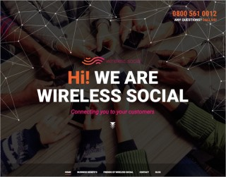 screenshot wirelesssocial website 700x550