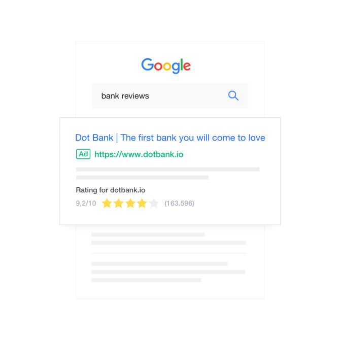 Showcase your reviews in search
