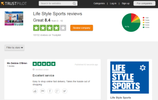 Lifestyle sports trustpilot page