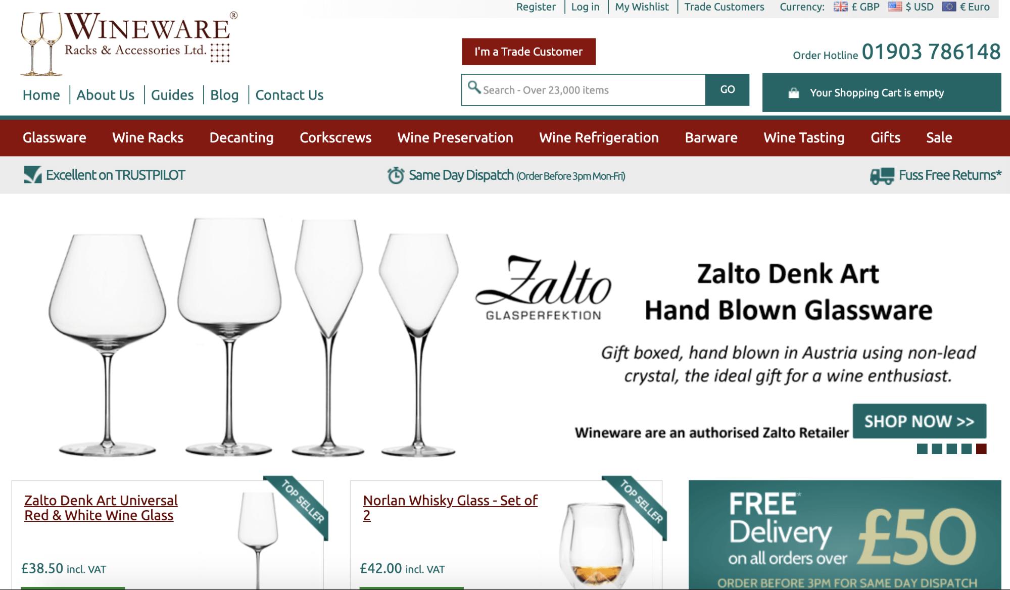 Wineware great customer service