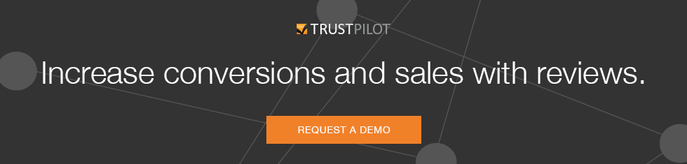 1. Increase conversion and sales with reviews | Request a demo | Banner | Trustpilot