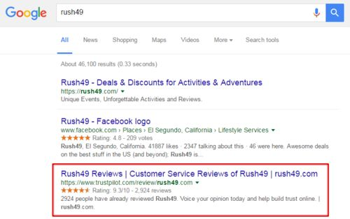 Rush49-google-star-ratings
