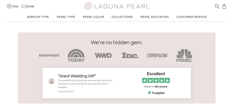Laguna Pearl TrustScore on Homepage