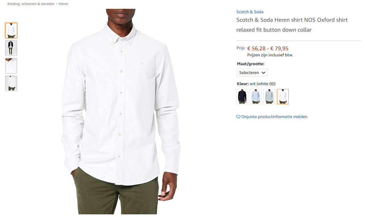 Amazon overhemd NL