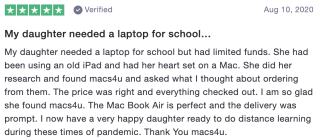 My daughter needed a laptop for school…