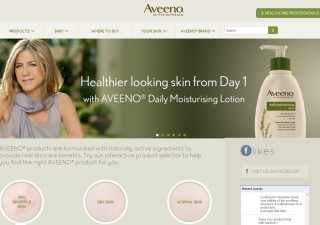 Aveeno social proof example endorsement