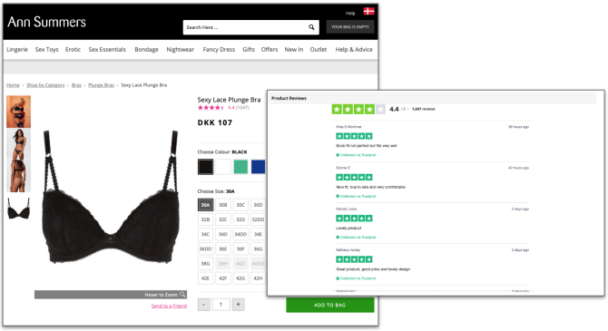AnnSummers Product Reviews on page example
