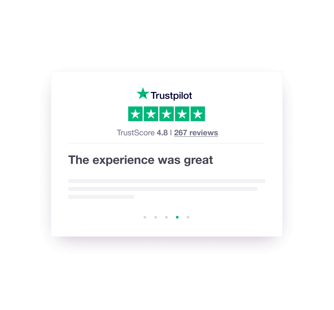 Illustration of a Trustpilot website widget called a TrustBox