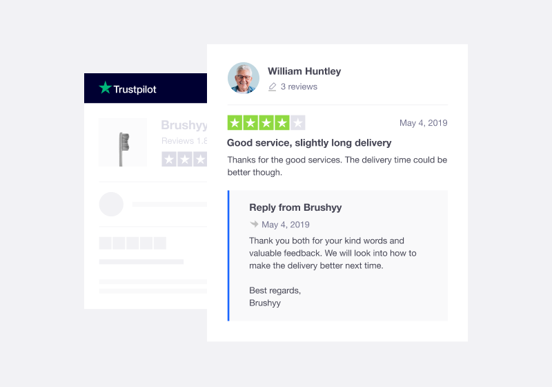Reply to Trustpilot Reviews illustration
