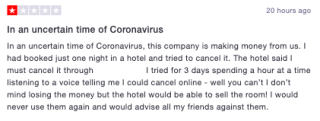 Bewertung Coronavirus 1