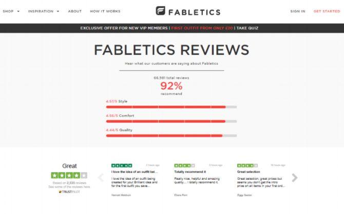 Bewertungen auf Unternehmens-Website