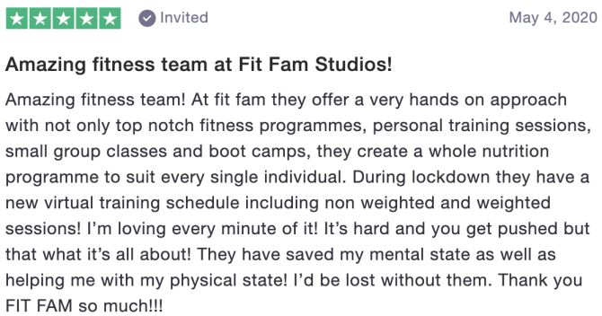 Review of Fitfam Studios