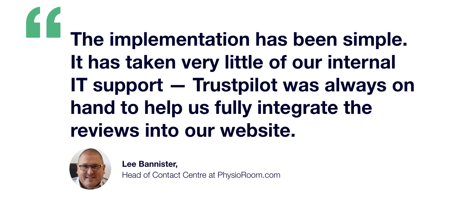 Lee Bannister Implementation Quote