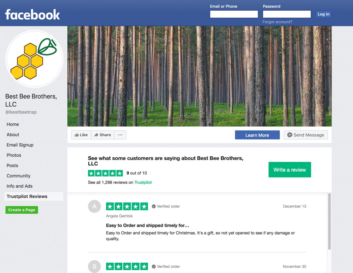 Best Bee Brothers Facebook Review Integration