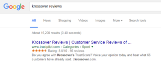 Krossover reviews - Google search results