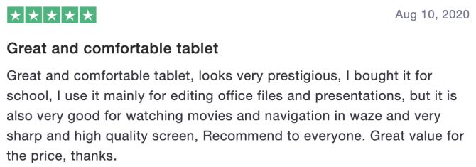 Great and comfortable tablet