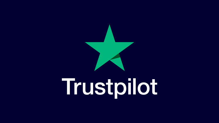 Trustpilot logo on primary blue background