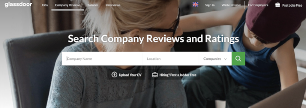 Glassdoor collects anonymous reviews and information for prospective employees