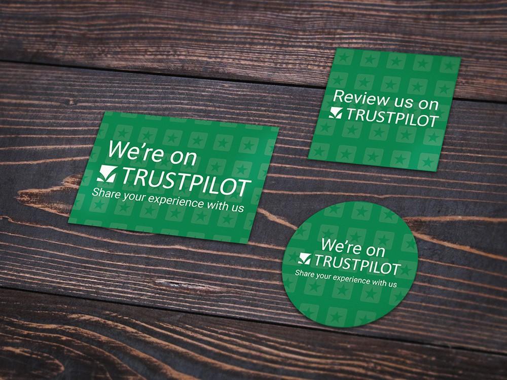 Billede af Trustpilot klistermærker