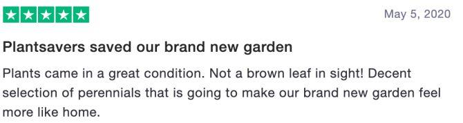 Plantsavers saved our brand new garden