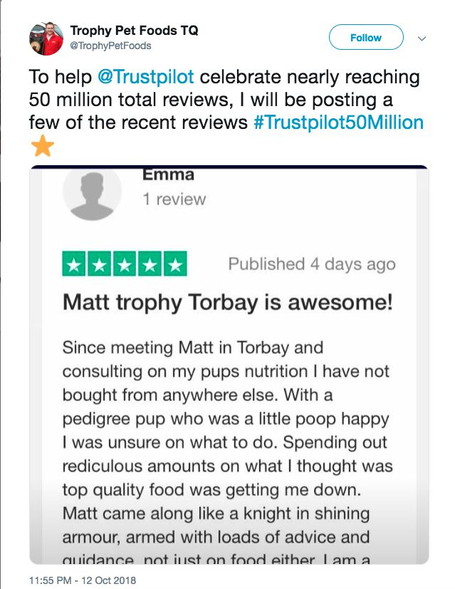 Trophy pets food trustpilot review