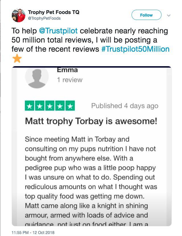 Trophy pets food trustpilot review