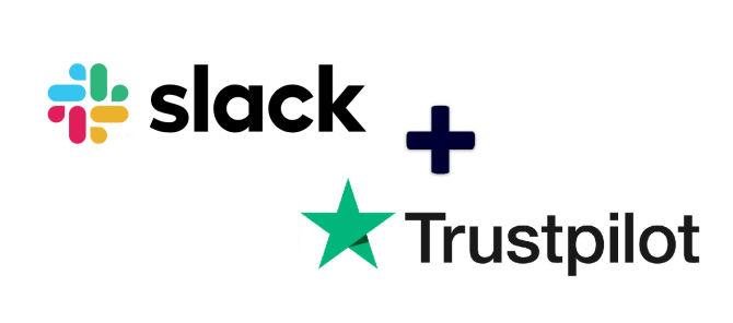 Logos von Slack und Trustpilot