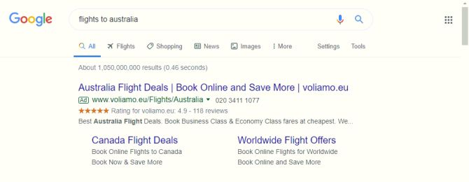 google seller ratings voliamo