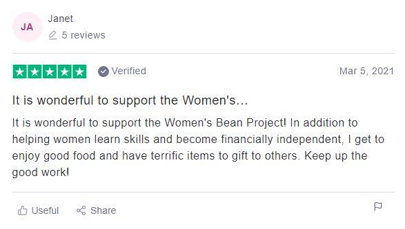 Women's bean project customer review