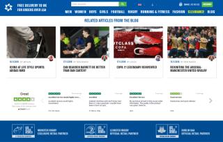 Lifestyle sports website