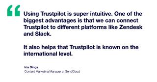SendCloud quote Trustpilot is intuitive