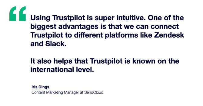 SendCloud quote Trustpilot is intuitive