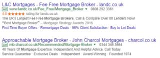 Example of Google Seller Ratings