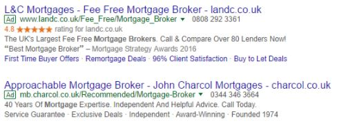 Example of Google Seller Ratings