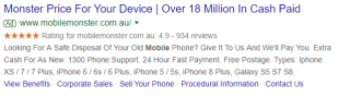 Mobile Monster's Google Seller Ratings