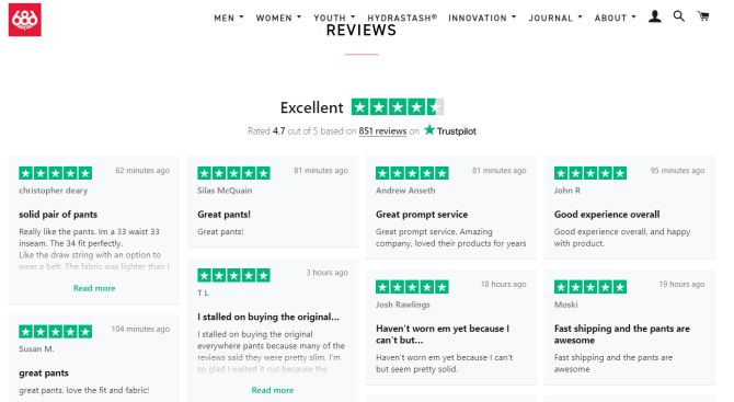 686 Trustpilot Reviews Onsite