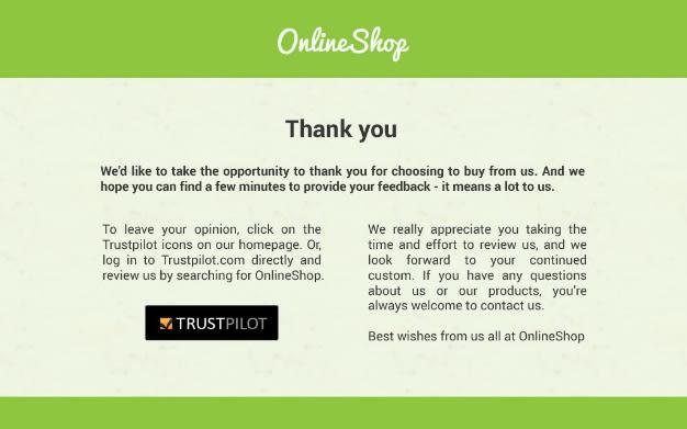 Online shop example