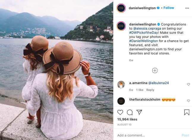 Daniel Wellington UGC Instagram