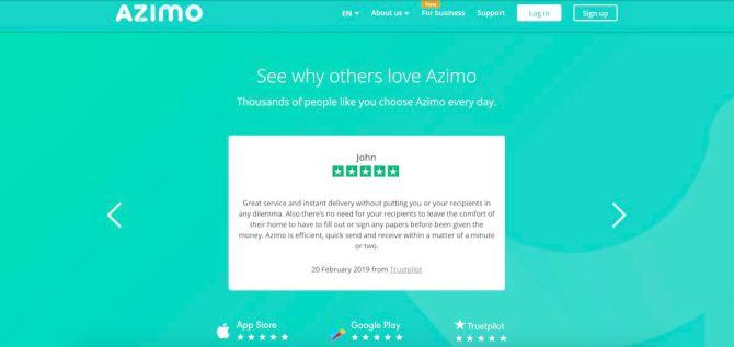 Azimo example