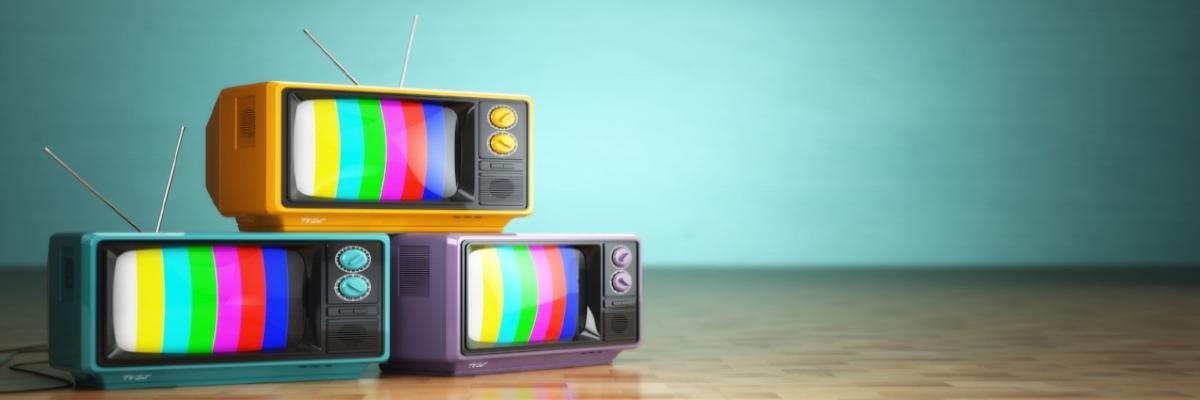 3 TV sets