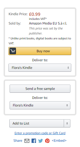 Screenshot of Amazon checkout