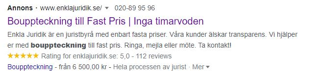 Enkla Juridik Google Sellers Ratings