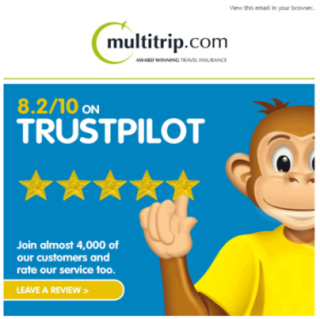 Rating on Trustpilot