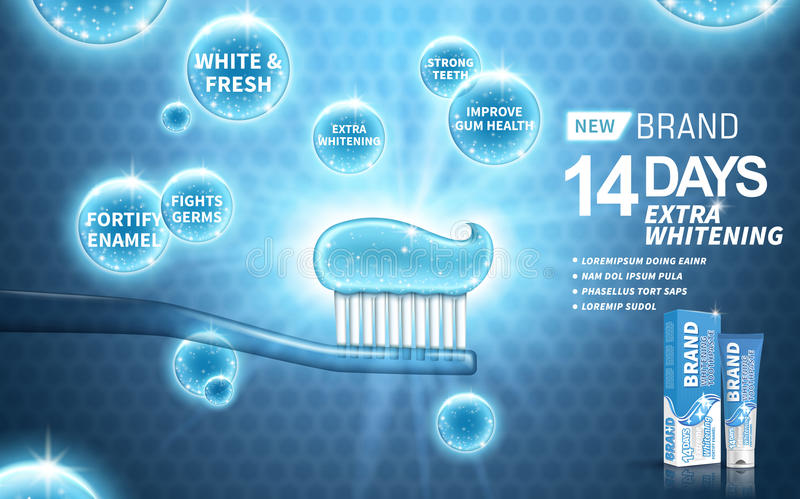 An example of mass marketing advertising: toothpaste advert