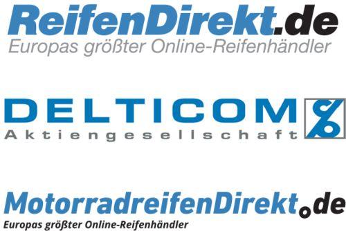 Logos+von+ReifenDirekt.de,+Delticom,+MotorradreifenDirekt