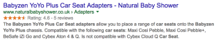 Trustpilot product reviews still get rich snippets